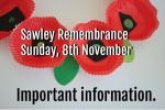 Sawley will remember them - Covid restrictions